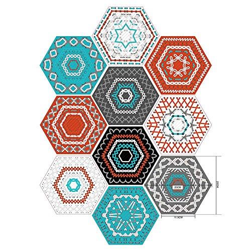 Haihuic 12 Piezas Set azulejo Pegatinas para la decoración del baño de la Cocina casera Calcomanías de baldosas Etiqueta...