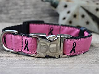 product image for Diva Dog UBS59 Breast Cancer Awareness Pink Dog Collar - Extra Large Sized