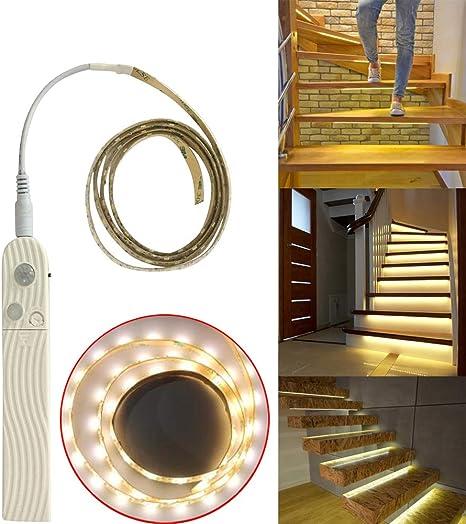 Amaping Smart - Luces de escalera con sensor de movimiento, LED, luz para encender como pases de paso, para bebé, adultos, luz nocturna, para escalera, corredor, cadena de luz: Amazon.es: Juguetes y