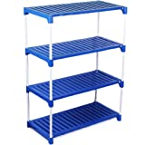 "Ebee Multipurpose ""Very Strong"" Rack (4 Steps, Blue)"