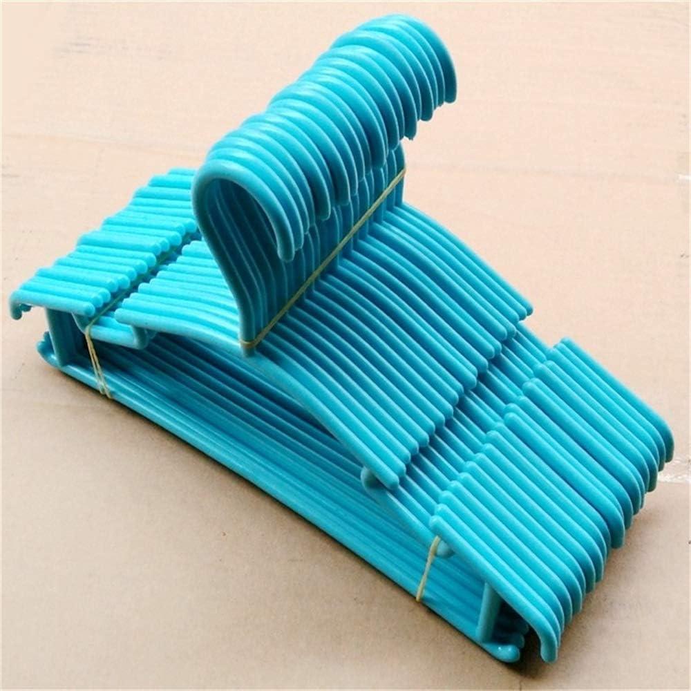 Wrighteu 40 pcs Perchas Infantiles Plástico Ajustable de Ropa Antideslizantes Durable Perchero Ganchos para Niños Bebé (Azul)