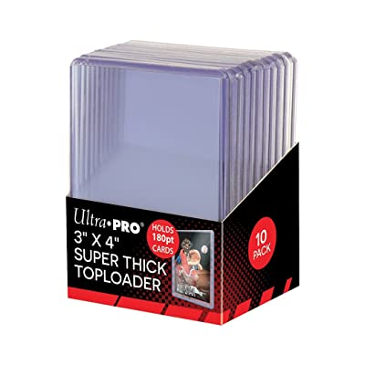 Ultra Pro 2 180pt Top Loader Packs - 10 Toploaders Per Pack (20 Total) - Thick Baseball, Basketball, Hockey, Football Cards (Ie Memorabilia): Sports & Outdoors