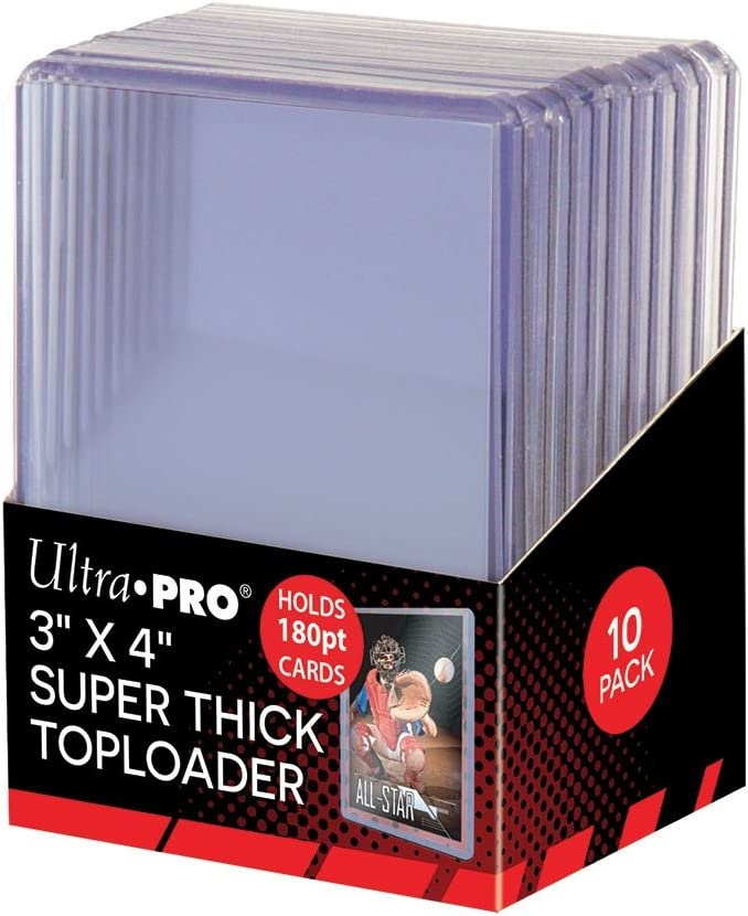 Hockey by Ultra Pro 10 Toploaders Per Pack 20 Total 2 Ultra Pro 180pt Top Loader Packs Basketball Football Cards Ie Memorabilia - Thick Baseball