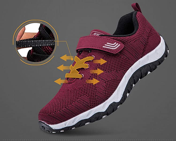 2b8a1c5c852 Women s Middle-Aged Seniors Running Sneakers Safety Walking Shoes  Lightweight Comfortable Casual Shoes. Back. Double-tap to zoom