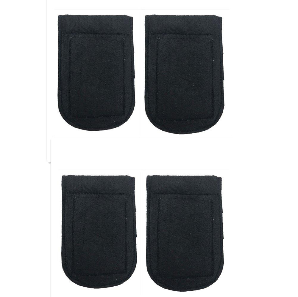 ALLENLIFE Pocket Square Card Holder, Men's Suit Handkerchief Keeper for Man's Suits (4 Pack)