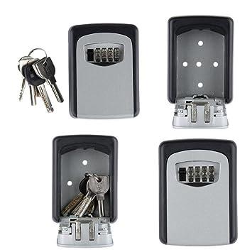 Schlüssel Safe Mit Wandbefestigung, Anggo Lock Box Key Keeper Kombination  Code Wand Montiert Digital