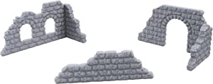 EnderToys Cobblestone Wall Set, Terrain Scenery for Tabletop 32mm Miniatures Wargame, 3D Printed and Paintable