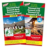 Denmark Map Pack : Denmark North & South Road and Leisure Maps 1:150,000 (English, French and German Edition)