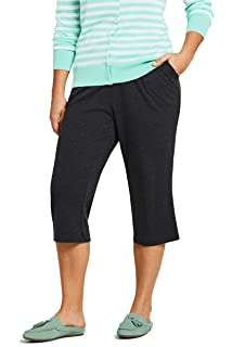 f82625285eaf Lands' End Women's Plus Size Starfish Capri Pants at Amazon Women's ...