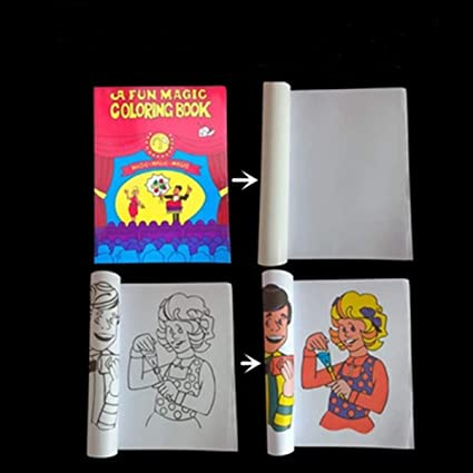 Amazon.com: WSNMING Funny Comedy Magic Coloring Book Magic Tricks ...