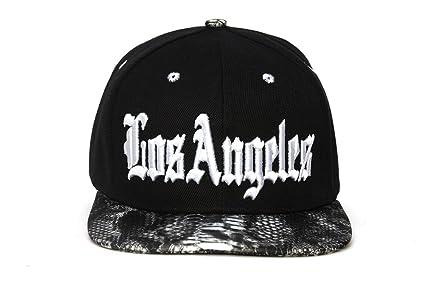7e8baa90d92 City Black Snakeskin Olde English Adjustable Baseball Cap - Los Angeles