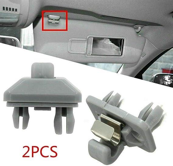 Lizhongbao Auto Sonnenblende Innen 2st Sonnenblende Clip Porpor Booya Innensonnenblende Haken Klipp Halter Gepasst For Audi A1 A3 A4 A5 Q3 Q5 8e0 857 562 A7 B6 B7 B8 S4 S5 Auto