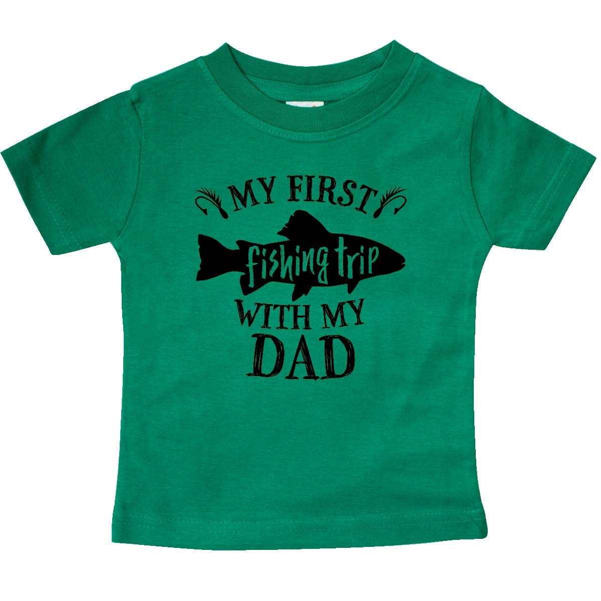 inktastic My First Fishing Trip with My Dad Baby T-Shirt