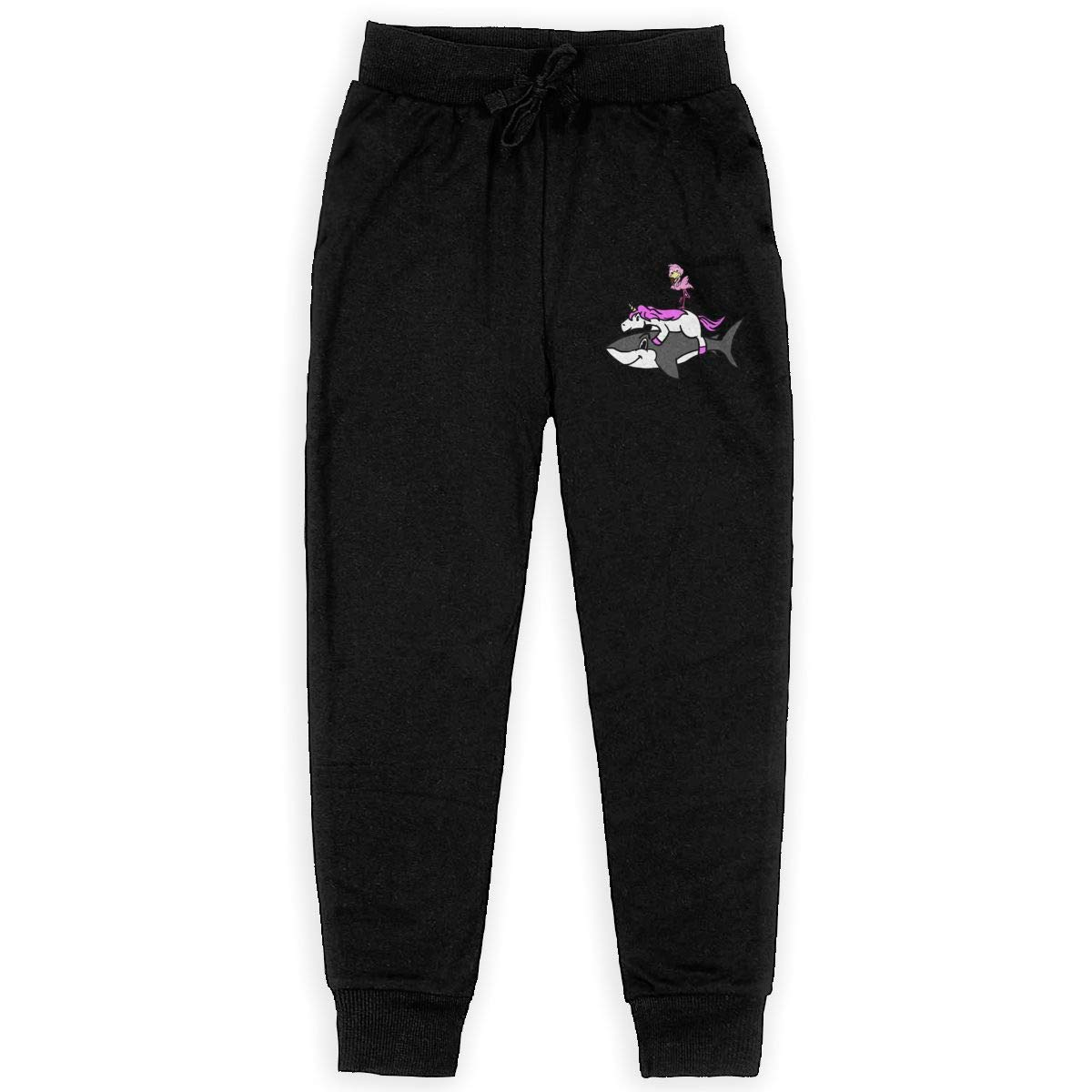 Bitches with Hitches LETE Unisex Youth Active Basic Jogger Fleece Pants Training Pants with Pockets