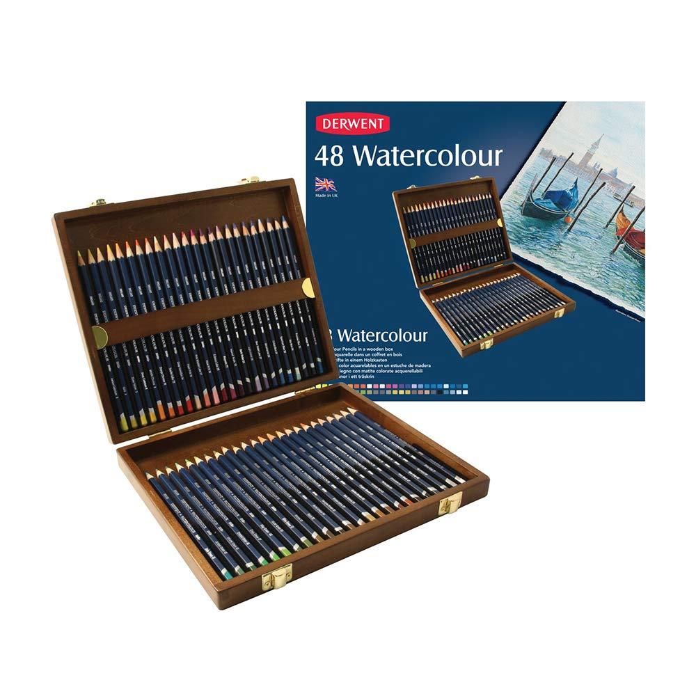 Derwent Colored Pencils, WaterColour, Water Color Pencils, Drawing, Art, Metal Tin, 12 Count (32881) ACCO Brands reikos_0019522742AM_0010189