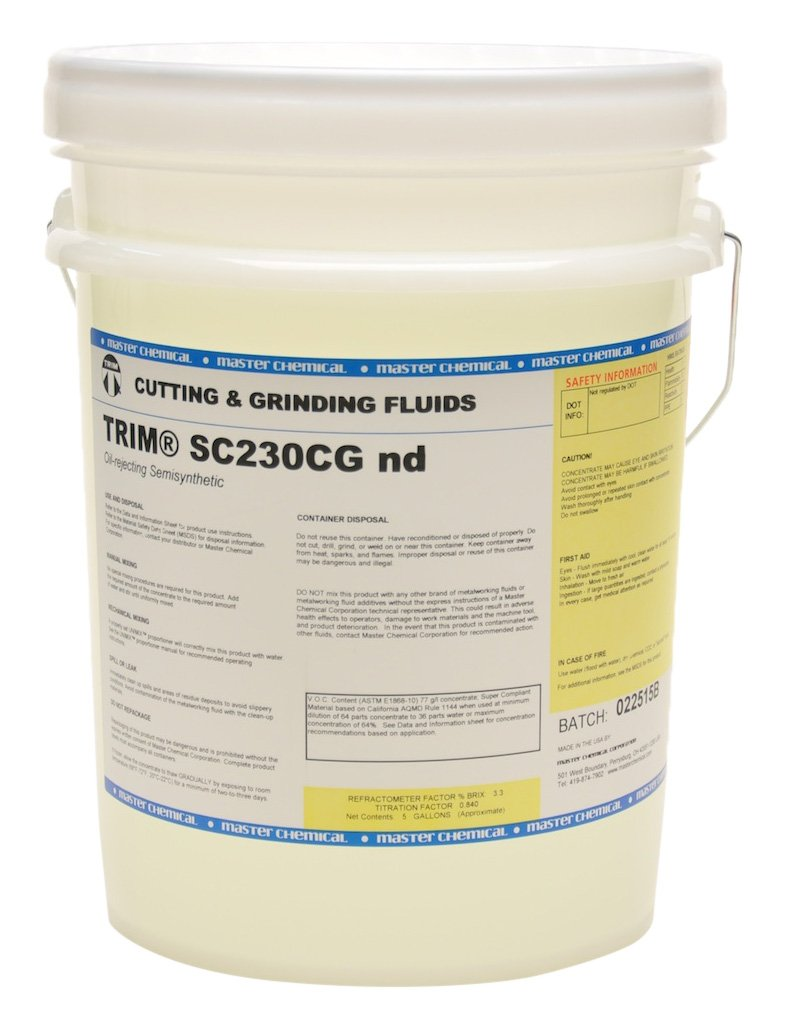 TRIM Cutting Grinding Fluids SC230CGND 5 Oil Rejecting Semisynthetic Fluid No Dye 5 gal Pail