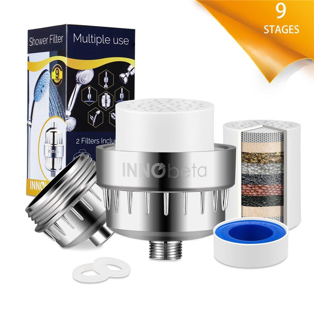 Cartuccia per filtro doccia InnoBeta, filtraggio a 9 stadi, 2 confezioni