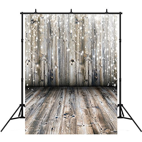 5x7ft Grey Wood Floor Photography Backdrops Children Vinyl Light Spot Photo Background Studio Props by Nextunit