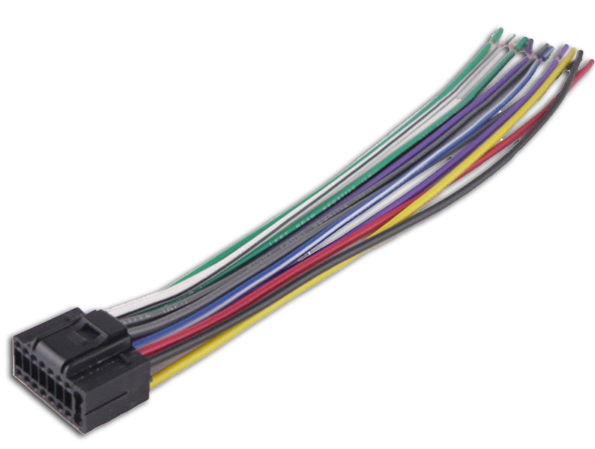 61wcjmiLryL._SL1200_ amazon com kenwood car stereo head unit replacement wiring wire harness for car radio at gsmx.co