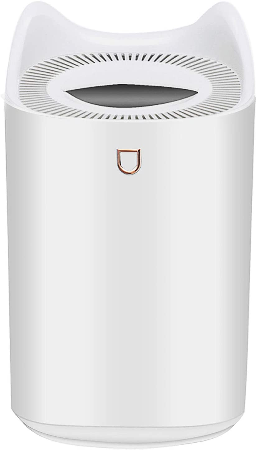 Double Nozzle Humidifier 3000ml Smart Mute Cool Mist Humidifiers with Night Light Auto Shut Off Water Vapor Diffuser for Baby Bedrooms Living Rooms Home 0ffices(White)