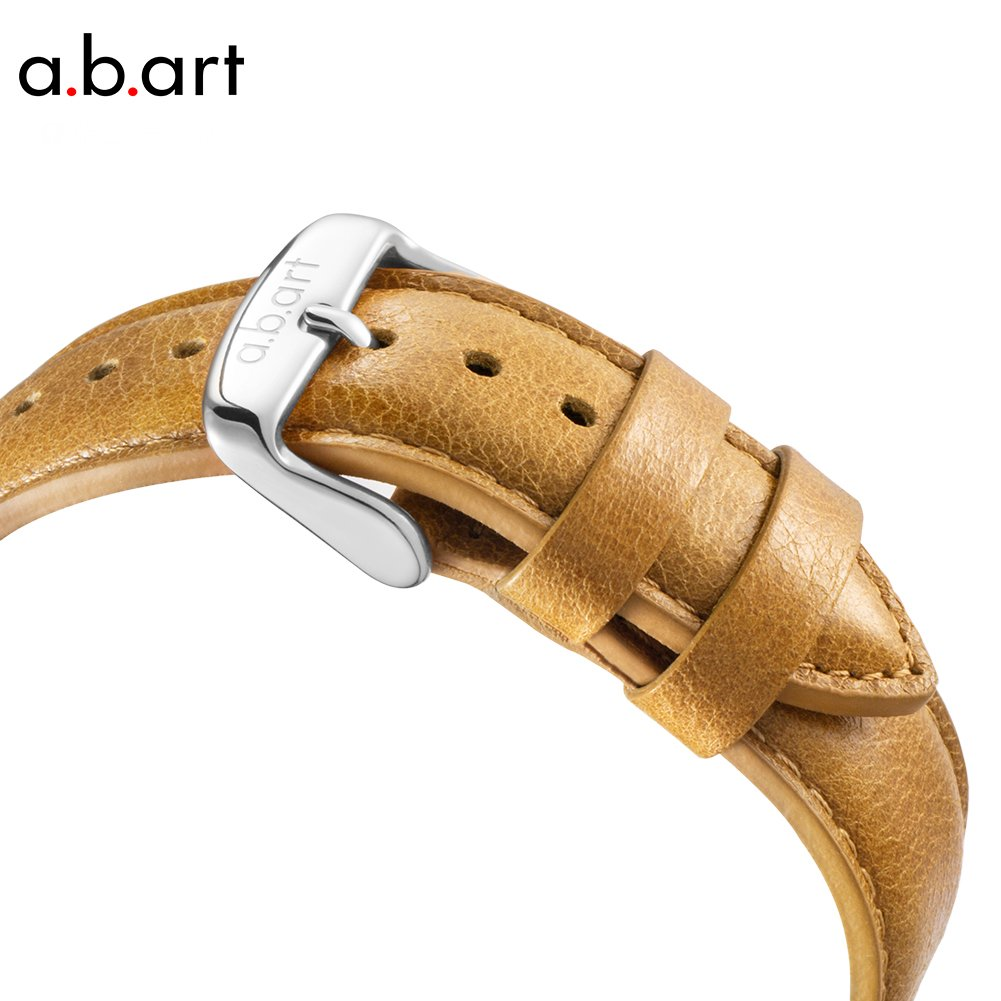 His gift a.b.art FB41-131-3L Wrist Watches for Men Light Brown Strap Silver Case Swiss Watch (Brown and Silver) by a.b.art (Image #3)