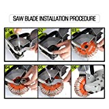 ZXMOTO 5pcs Saw Blades Wall Groove Cutting