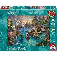 Schmidt - SCH-59635 - Disney Peter Pan, 1000 stukjes Puzzel - vanaf 12 jaar - disney puzzel - van Thomas Kinkade