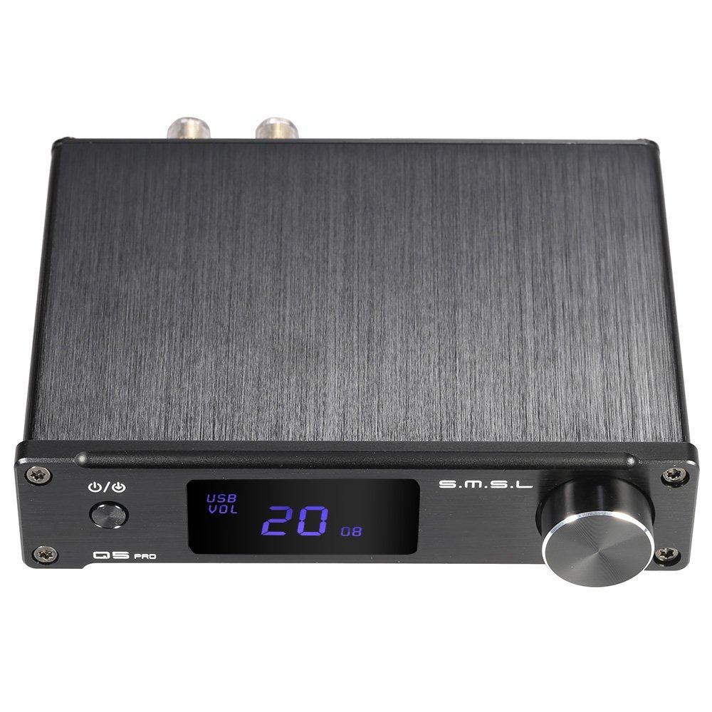 ammoon S.M.S.L Q5 pro Mini portatile Hi-Fi digitale 3, 5 mm analogico AUX / USB / coassiale / ottico Stereo Audio amplificatore di potenza con telecomando 4330356462
