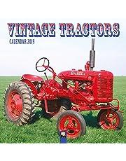 Vintage Tractors Wall Calendar 2019 (Art Calendar)