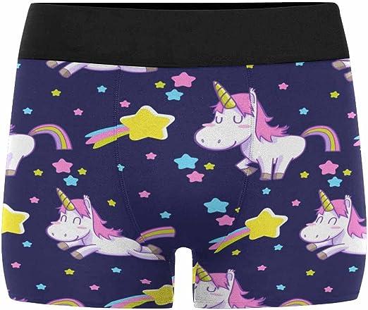 XS-3XL INTERESTPRINT Mens Boxer Briefs Underwear Cat Unicorn