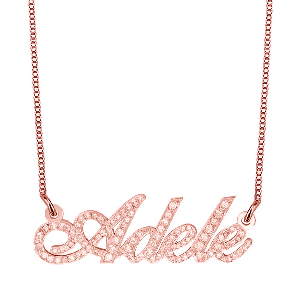 Ouslier 925 Sterling Silver Personalized Sparking Birthstone Name Necklace Custom Made with Any Names 0210121