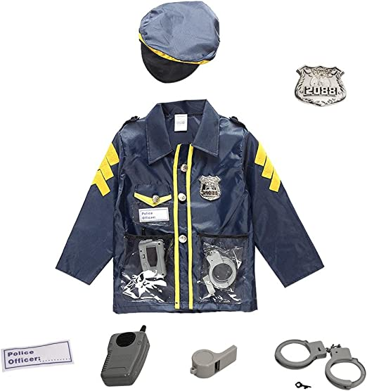 Chlidrens Policeman Disfraz de cosplay Disfraz de policía para ...