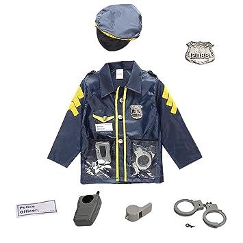 cheerfulus Disfraz de Cosplay de policía para niños, Disfraz de policía Disfraz de Disfraz de Halloween para niños Juego para niños