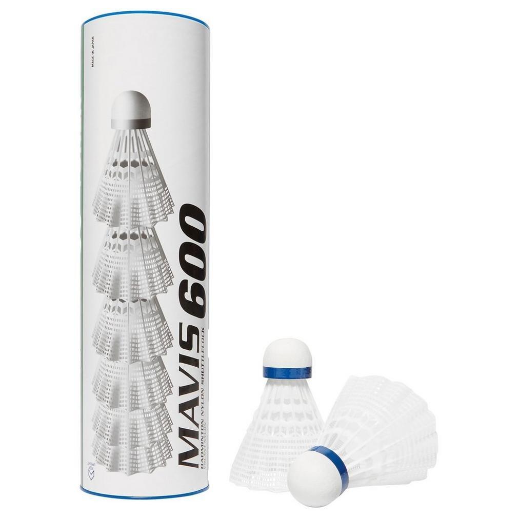 Wei/Ã/Ÿ Yonex Mavis 600 Nylon Federb/Ã/¤lle 6 pro Rohr Medium