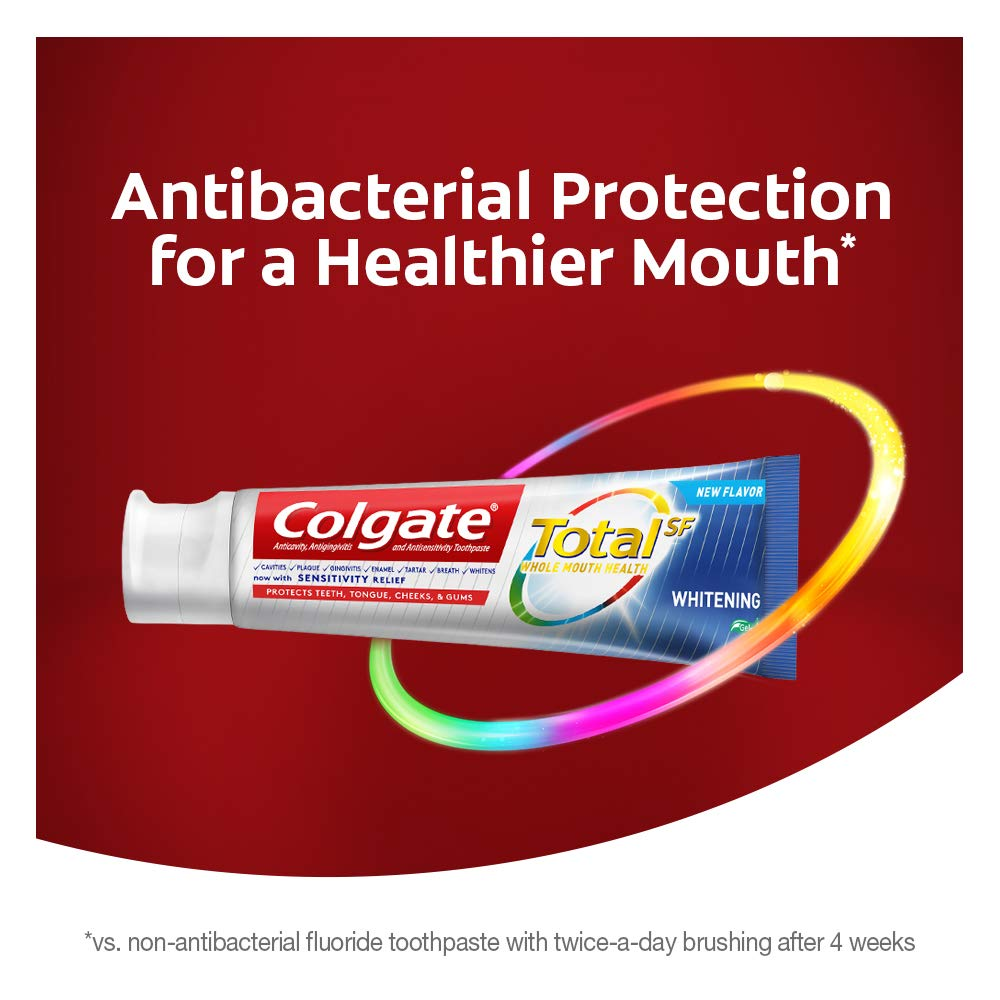 Colgate Total Whitening Toothpaste Gel - 4.8 ounce (4 Pack) : Beauty