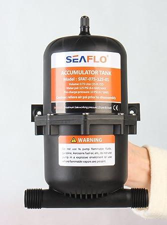Tanque acumulador Seaflo de 0,75 l.