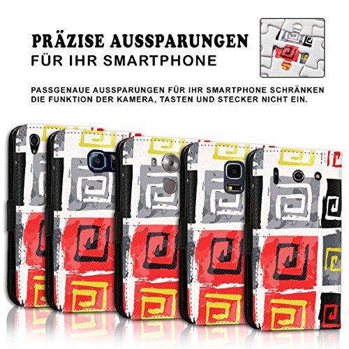 Wallet Book Style Flip Handy Tasche Case Schutz Hülle Schale Motiv Etui für Apple iPhone 4 / 4S - Design Flip MVD258