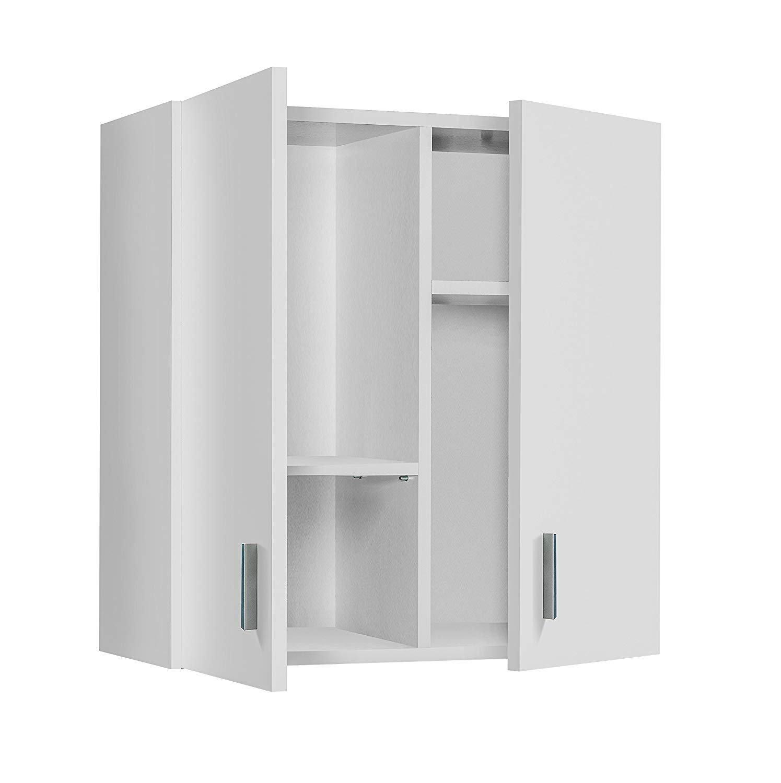 HABITMOBEL armadio multiuso per appendere, colore: bianco, dimensioni: 60x 59x 26,5cm di fondo