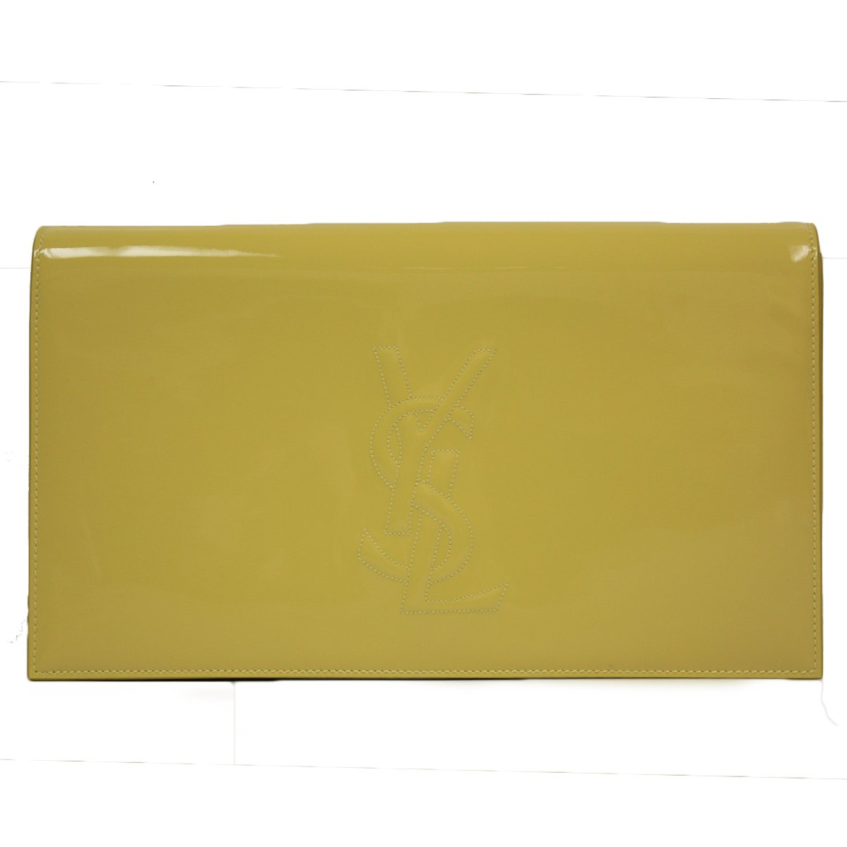 537c1128132 YSL Yves Saint Laurent Belle Du Jour Neon Yellow Patent Leather Large  Clutch Bag: Amazon.ca: Shoes & Handbags