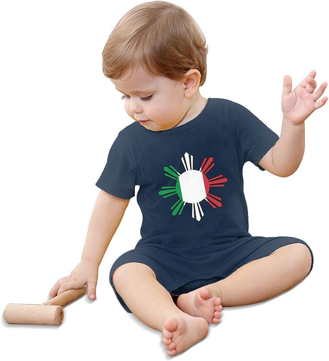 Newborn Kids Jumpsuit Italian Flag Philippines Sun Symbol Toddler Jumpsuit
