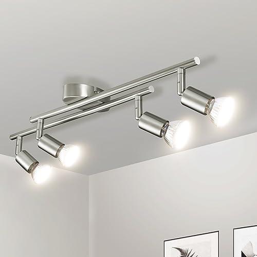 4 Way Adjustable Head Powersave Spotlight Bar In Brushed
