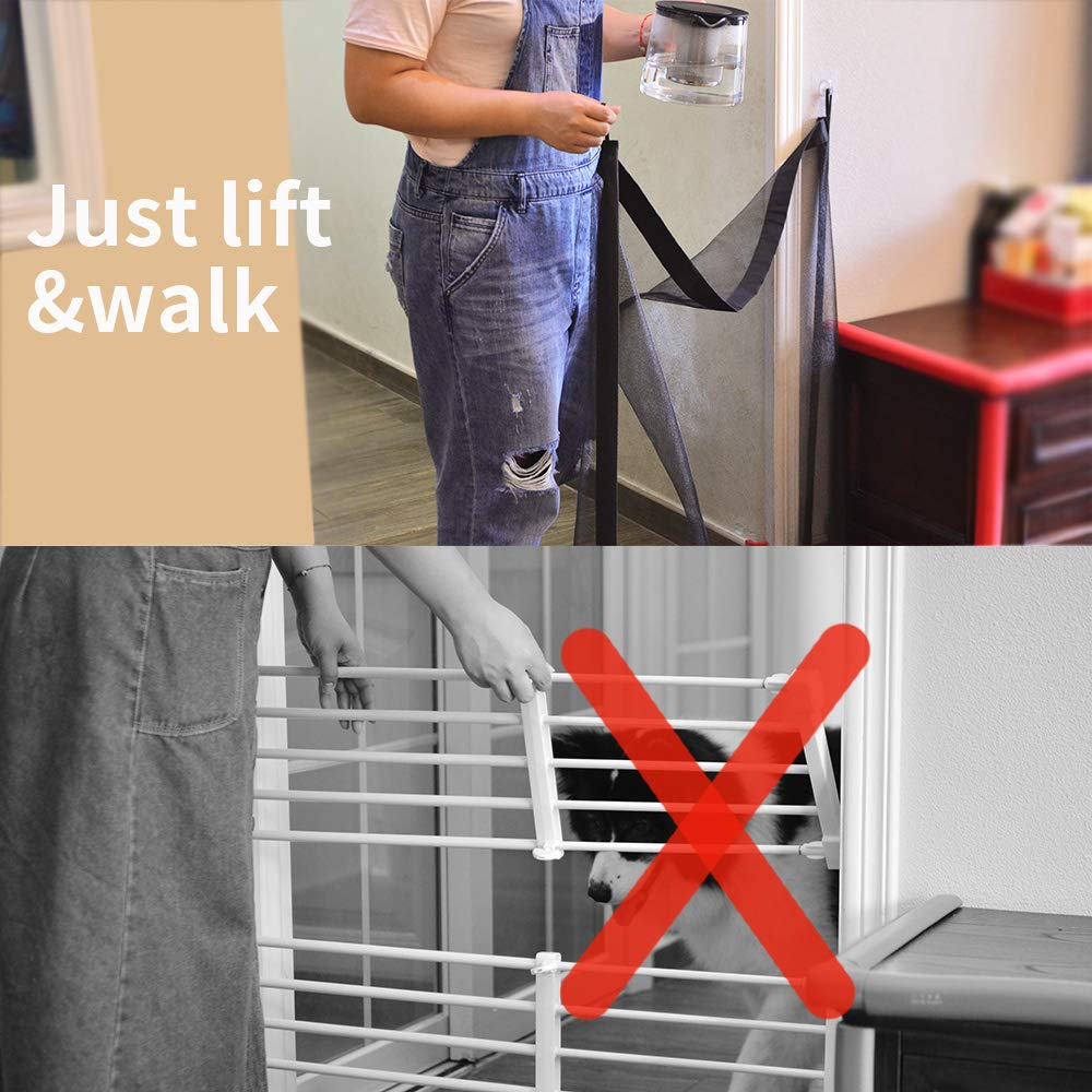 Magic Gate for Dogs Pet Safety Enclosure Portable Folding Guard Safety Enclosure,Baby Safety Fence,Magic Gate As Seen On TV(W:39.4in H:29.5in) … by ROSE RAIN (Image #4)
