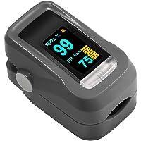 Oximetro de Dedo GRDE, Medidor de Oxigeno en Sangre y Monitor de Frecuencia Cardiaca