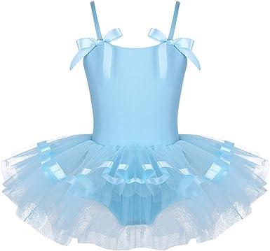 Girl Princess Costume Kid Ballet Dress Gymnastics Shiny Leotard Fancy Dance Wear