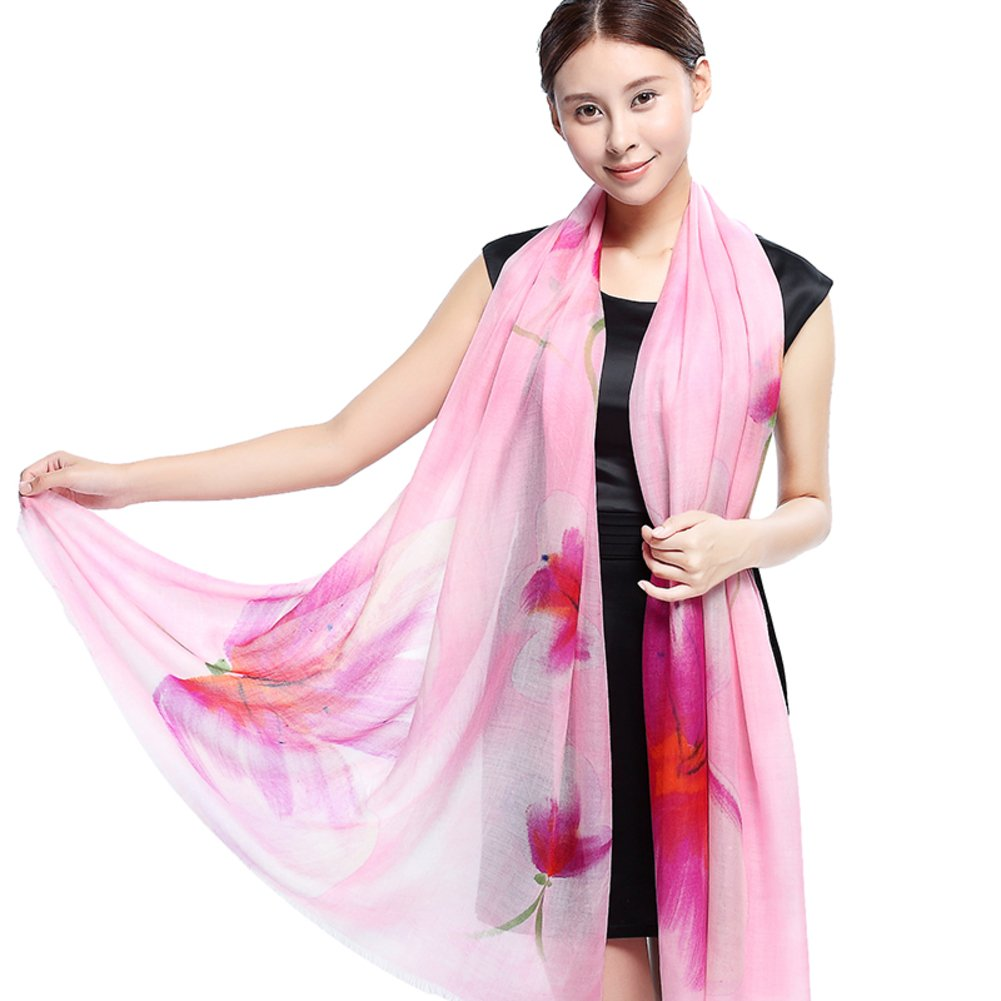 Print scarf in autumn and winter Ladies wedding dress large shawls dual-use scarves-B One Size