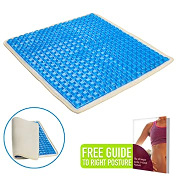 Orthopedic Gel Seat Cushion Pad For Car Bus Office Chair Wheelchair Home Durable Soft Cool