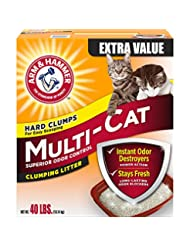 Arm & Hammer Multi-Cat Litter, 40 Lbs (Packaging May Vary)