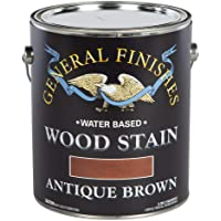 General Finishes WAGA Water Based Wood Stain, 1 Gallon, Antique Brown