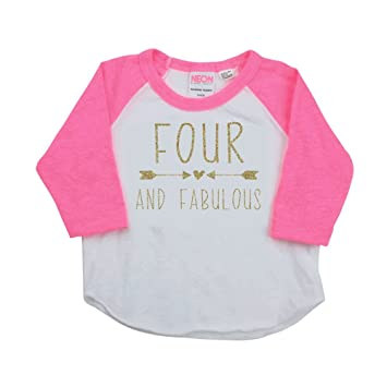 7c363cbae Image Unavailable. Image not available for. Color: Girl Fourth Birthday  Shirt ...