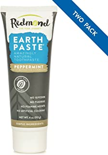 product image for Redmond Earthpaste - Natural Non-Fluoride Charcoal Toothpaste, 4 Ounce Tube (Peppermint Charcoal 2 Pack)